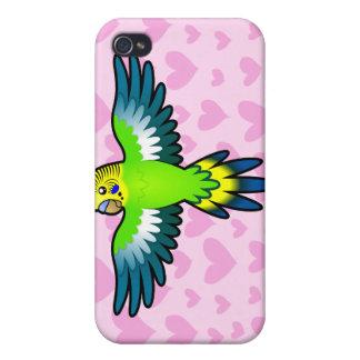 Budgie/amor del Parakeet iPhone 4 Fundas