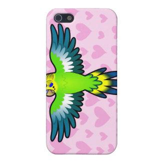 Budgie/amor del Parakeet iPhone 5 Carcasa