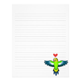 Budgie/amor del Parakeet Membrete Personalizado