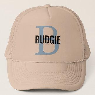 Budgie Bird Monogram Trucker Hat