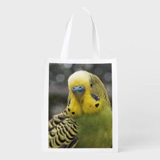 Budgie Bird Reusable Grocery Bag