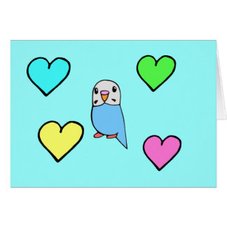 Budgie Birthday Card