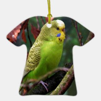 Budgie Adorno De Cerámica En Forma De Camiseta