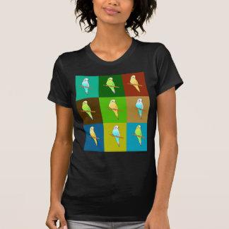 Budgie Design in earthy tones T-shirt