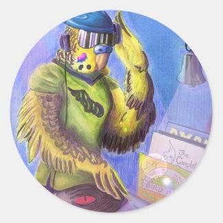 Budgie DJ Sticker