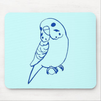 Budgie Drawing Mouse Pad