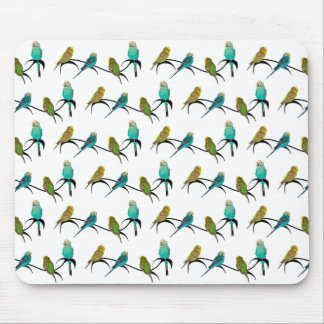 Budgie Frenzy Mousemat Mouse Pad