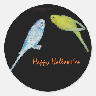 Budgie Halloween sticker