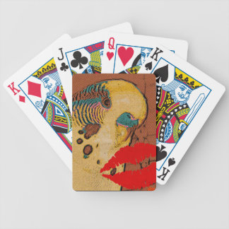 Budgie Love Bicycle Playing Cards