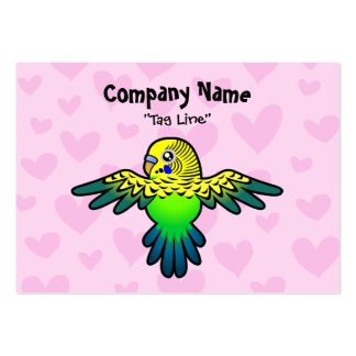 Budgie Love Large Business Cards (Pack Of 100)