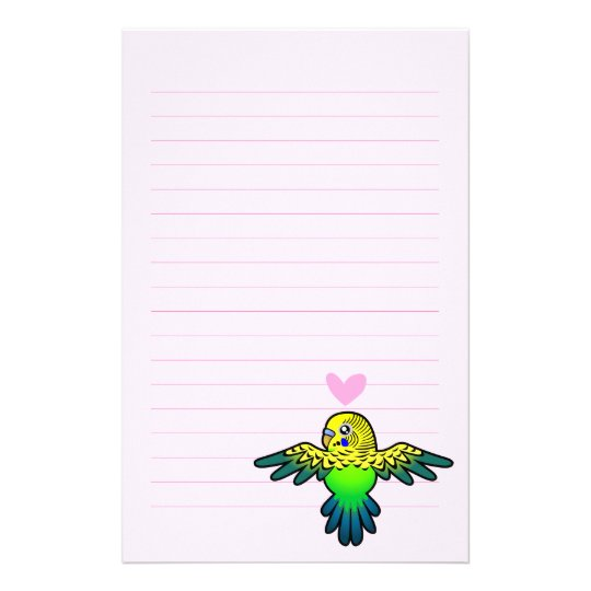 Budgie Love Stationery