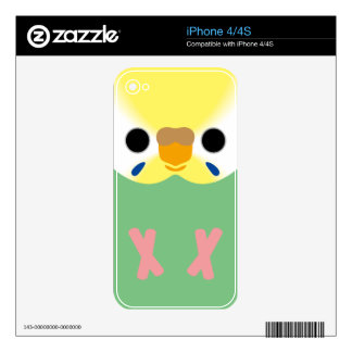 Budgie (Opaline Yellowface2 Greywing Skyblue F) Skins For iPhone 4