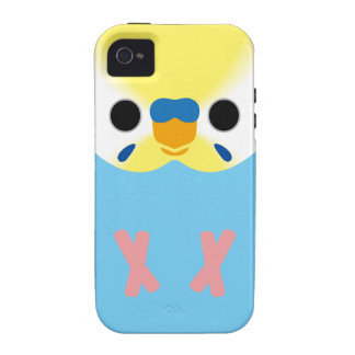 Budgie (OpalineYellowface1 Greywing Skyblue M) Case-Mate iPhone 4 Covers