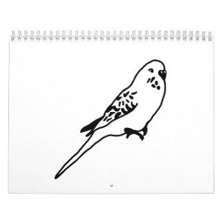 Budgie parakeet calendar