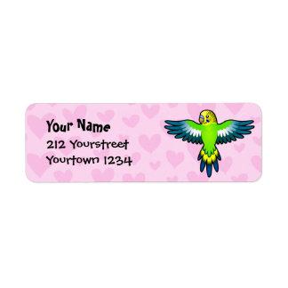 Budgie / Parakeet Love Label
