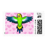 Budgie / Parakeet Love Postage Stamps
