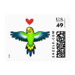 Budgie / Parakeet Love Stamp