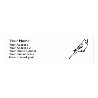 Budgie parakeet mini business card