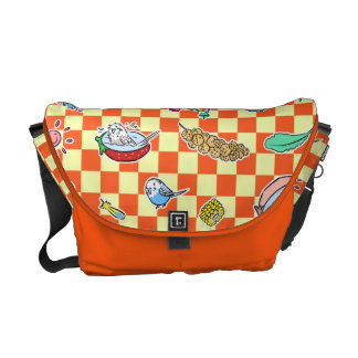 Budgie parrot pattern messenger bag