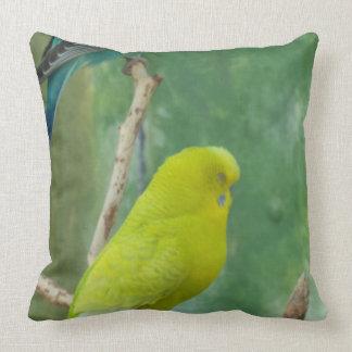 Budgie Throw Pillows