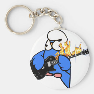 Budgie Rocks Keychain