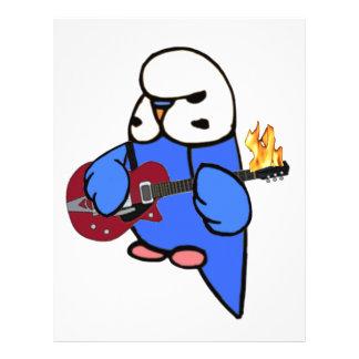 Budgie Rocks-Red Guitar Flyer