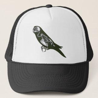 Budgie skeleton trucker hat