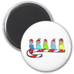 Budgies- Christmas 2 Inch Round Magnet