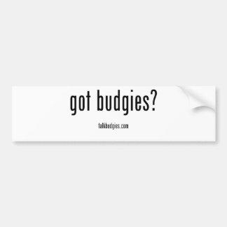 ¿Budgies conseguido? Pegatina Para Auto