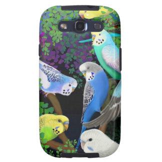 Budgies in Ferns Samsung Galaxy S  Case