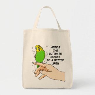 Budgies make life better tote bag
