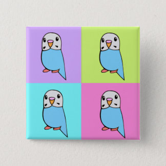 Budgies Pop Art Button