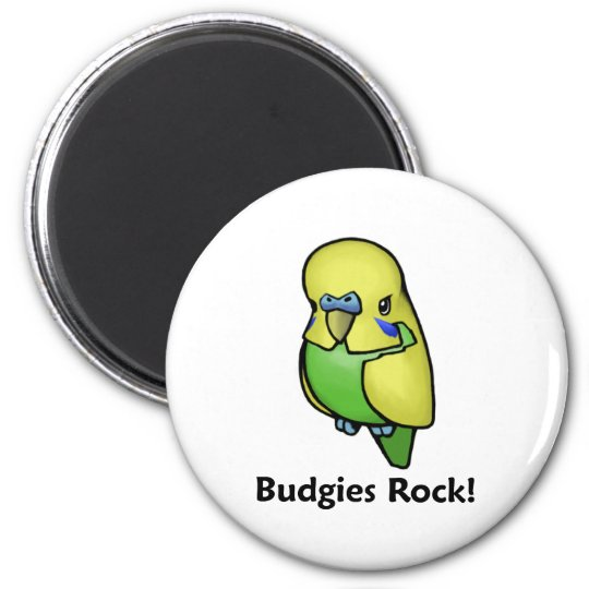 Budgies Rock! Magnet