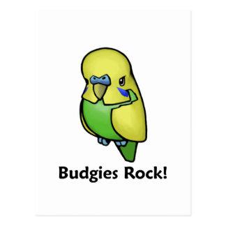 Budgies Rock! Postcard