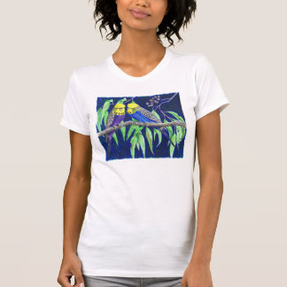 Budgies T Shirt by Lynne Freeman