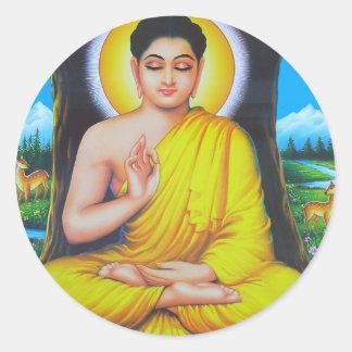 Budha Classic Round Sticker