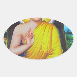 Budha Oval Sticker