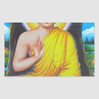 Budha Rectangular Sticker