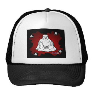 BUDHA RED BACKGROUND PRODUCTS TRUCKER HAT