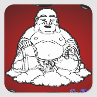 BUDHA RED BACKGROUND PRODUCTS STICKERS