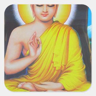 Budha Square Sticker