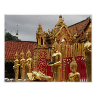 Budha Statue Temple Poster 11 x 8.5""