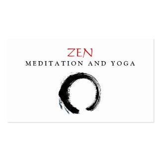 Budista 3 de la yoga y de la meditación de Enso de Tarjetas De Visita