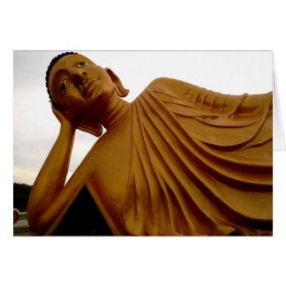 Budista de descanso del ~ de Buda Tarjeta De Felicitación