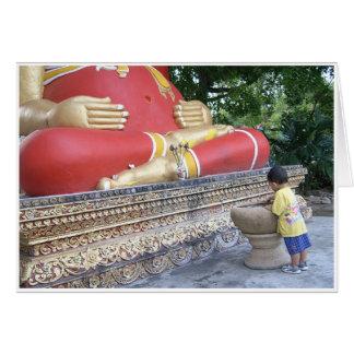 Budista de menor importancia tarjeta de felicitación