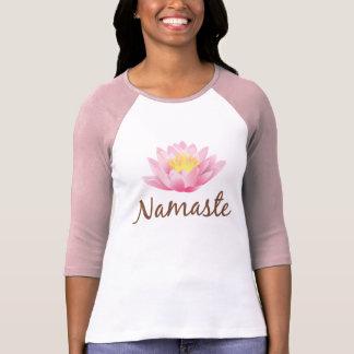 Budista de OM de la yoga de la flor de Namaste Playera
