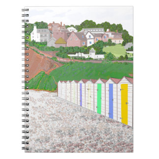 Budleigh Salterton beach huts Note Book