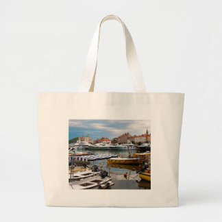 Budva Marina Large Tote Bag