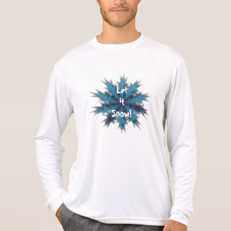 Bue and Red Snowflake Let it Snow Shirt