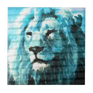 Bue Lion Tile